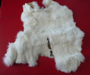 Spotted-White-Real-Canadian-Rabbit-Fur-Pelt-Skin-14-039-039-X-12-039-039
