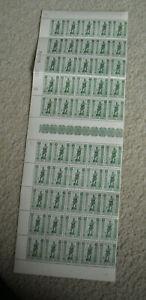 Vintage Sheet of 50 Stamps WWII Belgium #612 Belgique Belgie TB 35+5C
