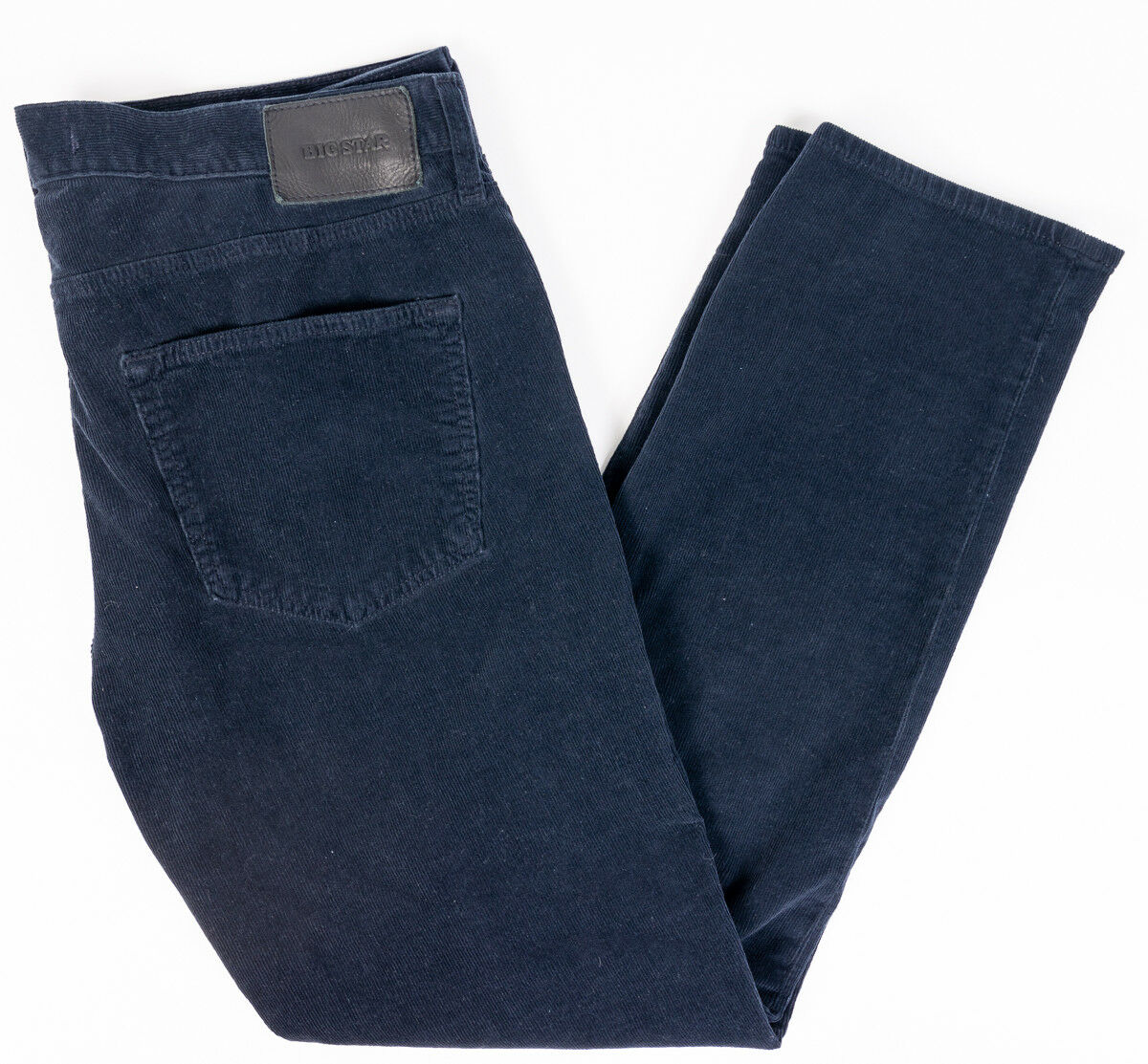 Big Star Jeans Divison Straight Mens Corduroy Pants Navy bluee Size 38R