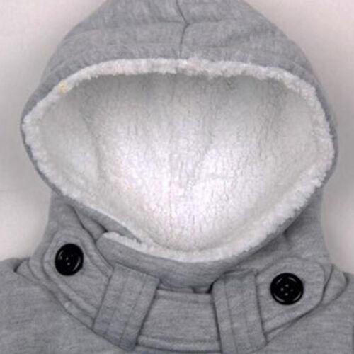 Kids Boys Fleece Hoodies Sweatshirt Winter Warm Hoody Hooded Pocket Jumper Tops
