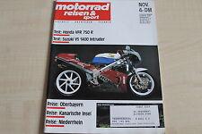 164706) Suzuki VS 1400 Intruder im TEST - Motorrad Reisen Sport 11/1989