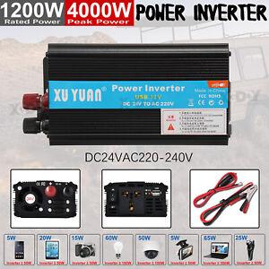 4000W-Voiture-Power-Inverter-DC-12-24V-to-AC-230V-Convertisseur-Onduleur-Noir