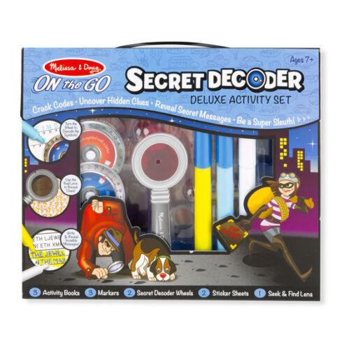 MELISSA /& Doug On The Go-SECRET DECODER attività Deluxe impostare SUPER gli insospettabili giocattolo