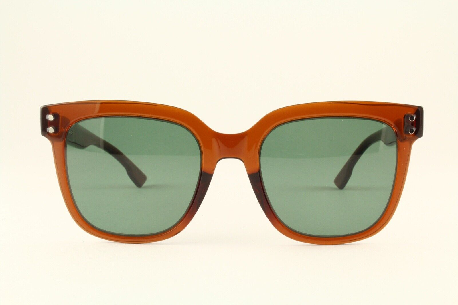 Rare Authentic Christian Dior CD1 Transparent Brown 50mm Italy Sunglasses