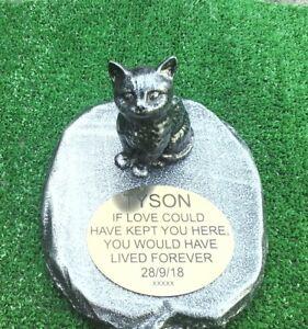 Consciencieux Cat Memorial Pet Perte Cadeau. Cat Perte Bien-aimé Pet-pierre Tombale De 3 Neuf-afficher Le Titre D'origine Handicap Structurel