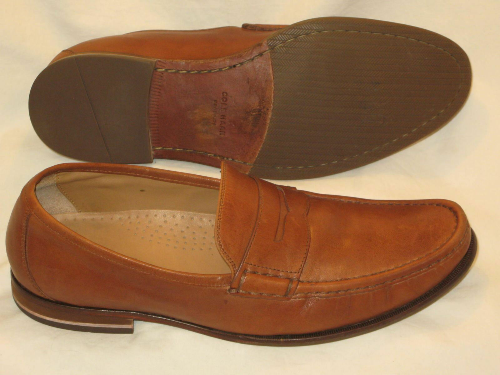 b6e4a27094a Cole Haan Aidan Grand II Penny Loafer Mens Sz 11.5 M Casual Dress shoes  Brown