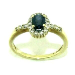 Ladies-womens-9ct-gold-dress-ring-set-with-a-sapphire-and-diamonds-UK-size-J-1-2