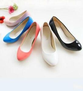 Womens-Ladies-Kitten-Heels-OL-Slip-On-Pumps-Causal-Classics-Court-Shoes-Size-NEW