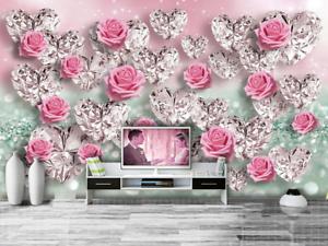Papel Pintado Mural De Vellón pink De Cristal 2 Paisaje Fondo De Pansize ES AJ