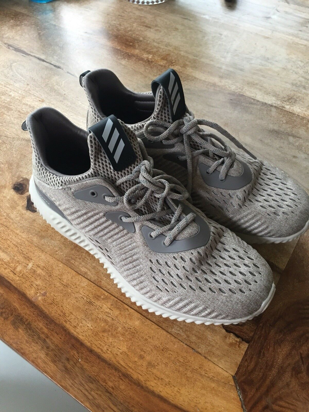NEW adidas alphabounce BEIGE BEIGE BEIGE men's 6.5 womens 8.5 - only wore a few times 033be9
