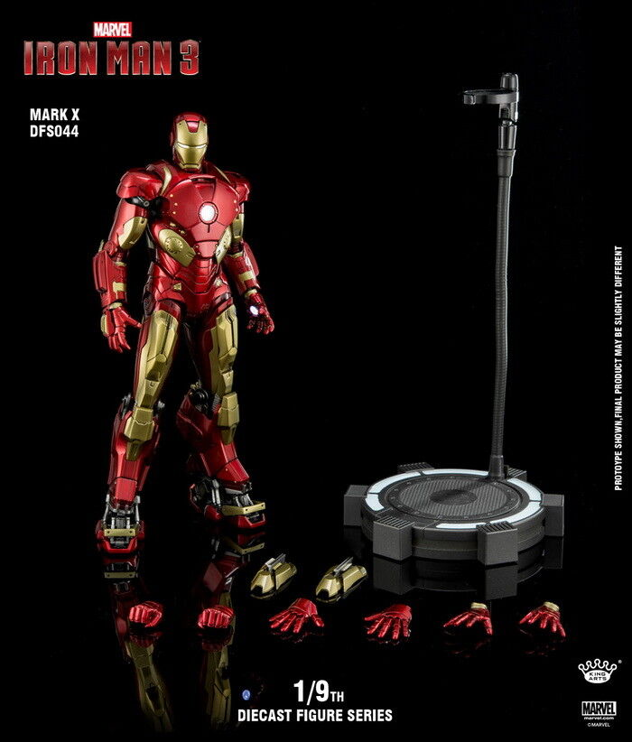 King Arts DFS044 1 9th Iron man Mark10 Ultimate Alltronic Figure model speelgoed Metal