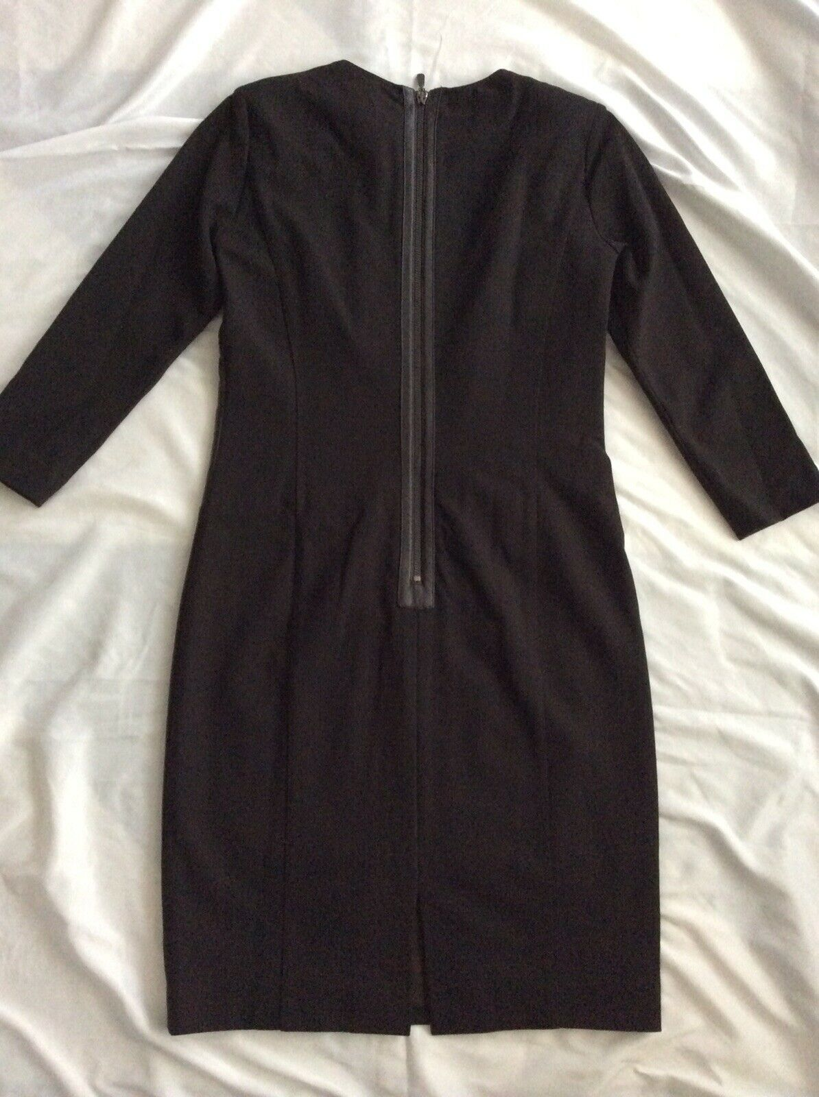 Worth Brown Dress size 6 full front zipper - image 2