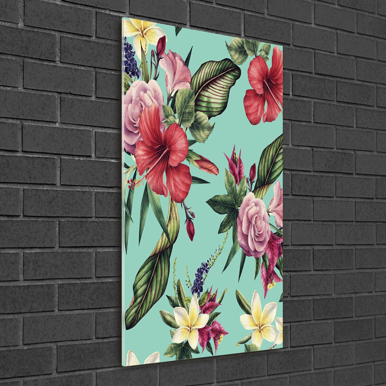 Immagine muro ARTE-STAMPA su duro-vetro ad alta Kant 50x100 Hawaii-pattern