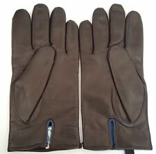 Paul Smith Leather Gloves Brown Mens LARGE