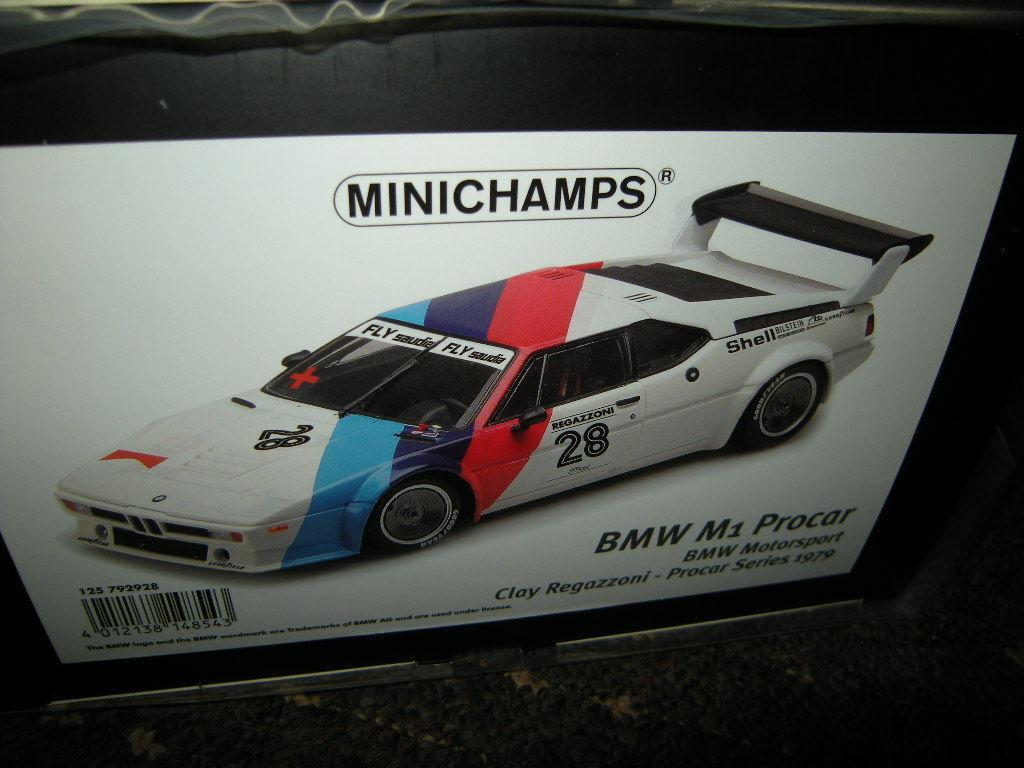 1 12 Minichamps bmw m1 Procar  28 Regazzoni 1979 Nº 125792928 neuf dans sa boîte