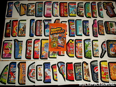 2013 WACKY PACKAGES ANS10 COMPLETE 55 CARD SET + WRAPPER!! WOW!!