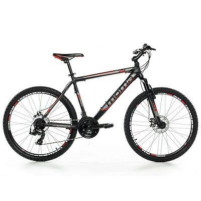 "VTT 26"" Mountainbike ALUMINIUM SHIMANO PROFESSIONNEL, 2xDISQUE, SUSPENSION"