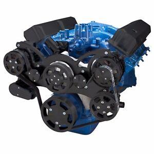 black ford fe engine serpentine pulley conversion kit 352. Black Bedroom Furniture Sets. Home Design Ideas