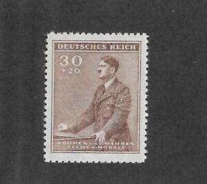 MNH-stamp-30-20-hal-Adolph-Hitler-1942-Birthday-WWII-Third-Reich-Occupation