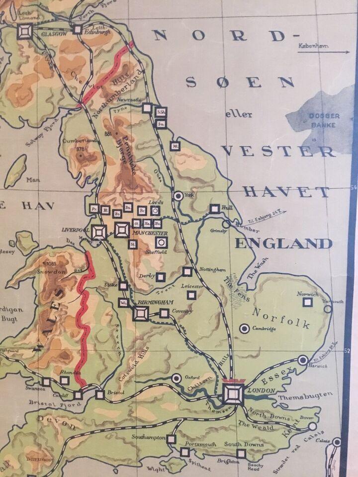 Skolekort, England, Irland