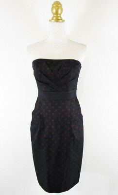 Black Market Silk Strapless Dress