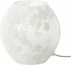 Ikea-KNUBBIG-Table-lamp-Cherry-blossoms-white-18cm-Gives-a-soft-mood-light