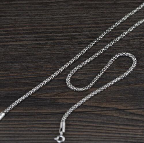 I05 Herren Damen 2,5 mm Maiskornkette 925 Sterling Silber Länge wählbar