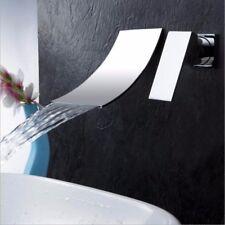 Chrome Wall Mounted Bathroom Waterfall Bathtub Basin Sink Mixer Tap Bath  Faucet