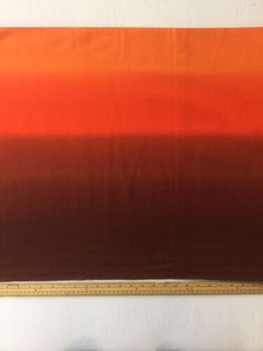 Orange// Brown. Ombre Cotton Quilting Fabric