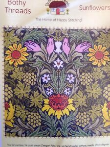Bothy-Threads-William-Morris-Sunflowers-counted-cross-stitch-kit-sealed