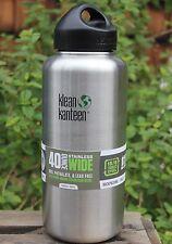 Klean Kanteen Wide 40 oz. water Bottle w/ Stainless Steel Loop Cap clean canteen