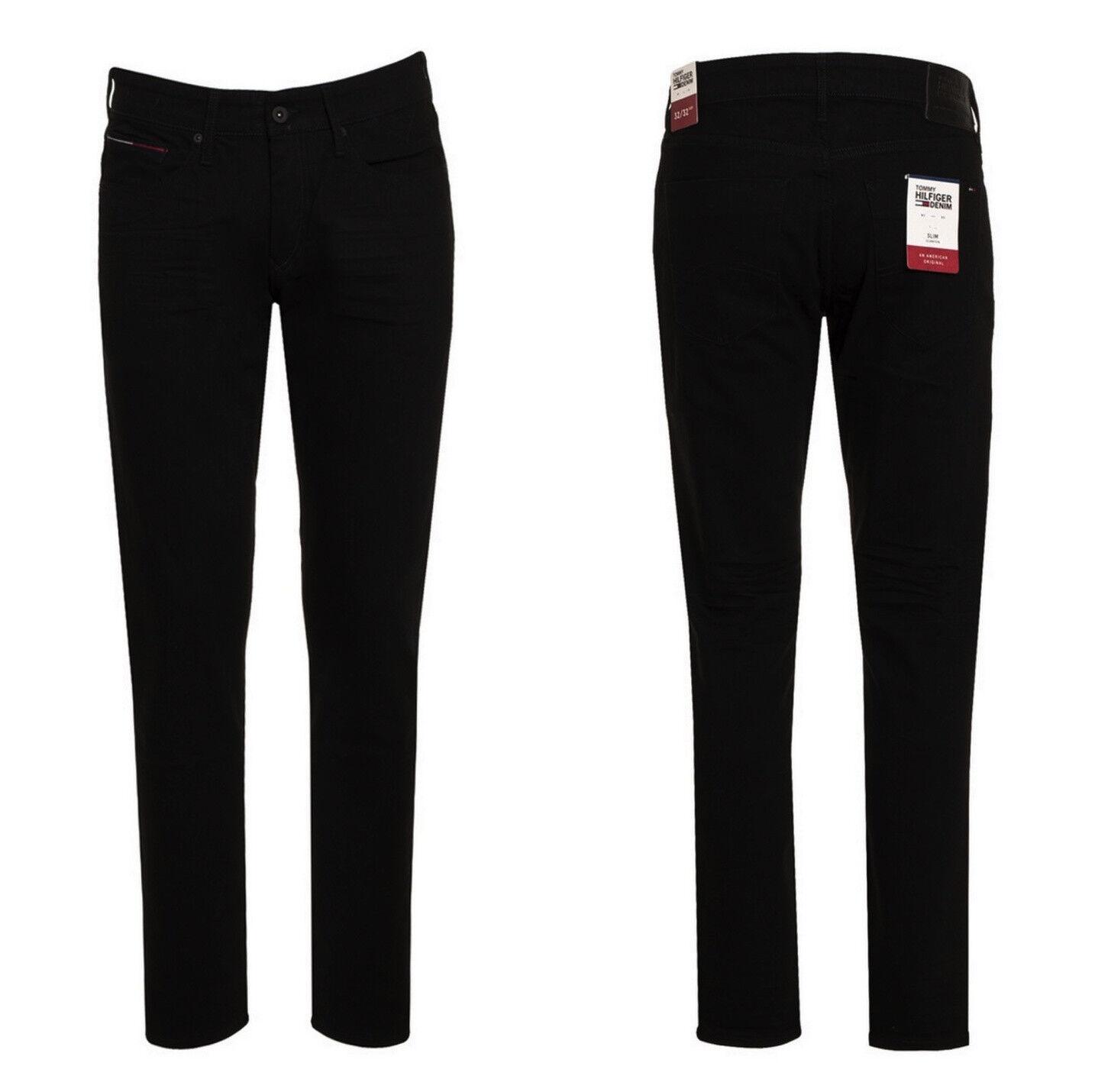 Tommy Hilfiger Herren Jeans  Scanton  Stretch    BLCO Slim Schwarz W31-32-34 L32 3e7d2e