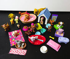 Mattel Barbie & Polly Pocket dogs Pets with Talking dog bed Accessories food