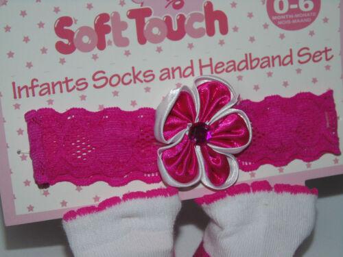 Set Haarband Socken Stirnband Haarschmuck Baby Kopfband Erstlingssocken Blume rp