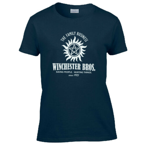 Winchester Brothers Ladies T Shirt Supernatural Winchester Brothers Bobby Sam