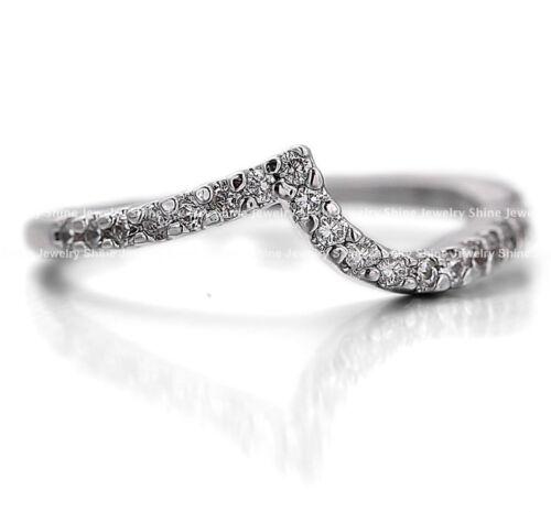 18K WHITE GOLD GF R295 WOMENS DIAMOND INFINITY ENGAGEMENT WEDDING BAND RINGS SET