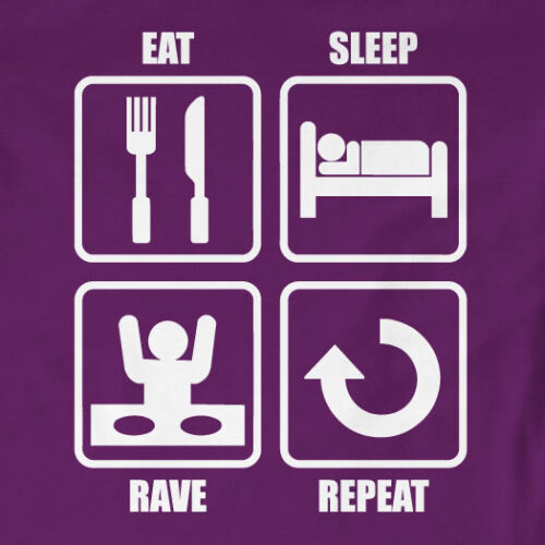 Slogan Music Eat Sleep Rave Repeat T-ShirtGift
