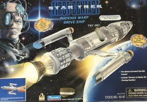 STAR TREK FIRST CONTACT PHOENIX WARP DRIVE SHIP PLAYMATES 16147 COLLECTOR'S ED