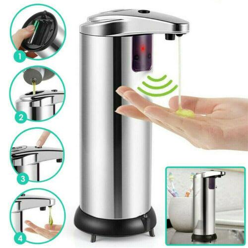 Stainless-Steel-Touchless-Handsfree-Automatic-IR-Sensor-Liquid-Soap-Dispenser