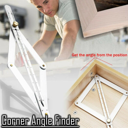 Stainless Steel Corner Angle Finder Ceiling Artifact Tool Square Protractor CA