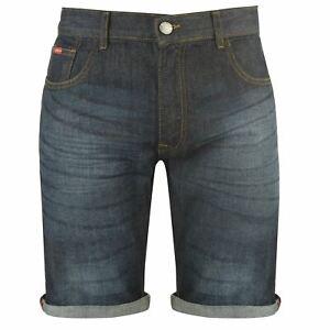 Details about Lee Cooper Denim Shorts Mens Gents Pants Trousers Bottoms Cotton Zip