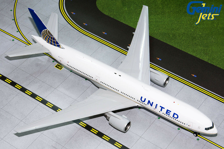 United Boeing 777-200ER N796UA Gemini Jets G2UAL768 escala 1 200 En Stock