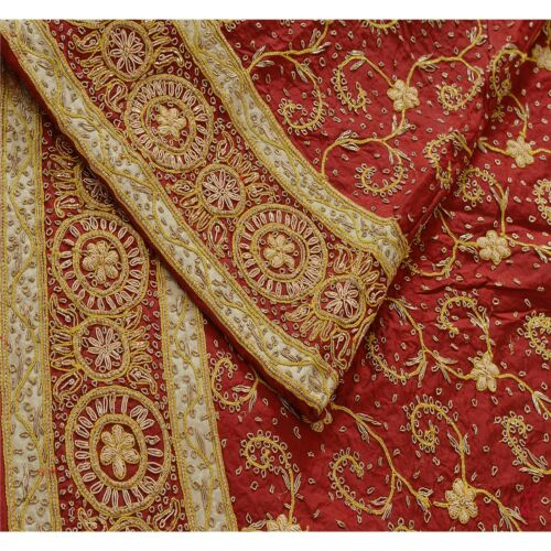Sanskriti  Maroon Unstitched Long Skirt Lehenga He