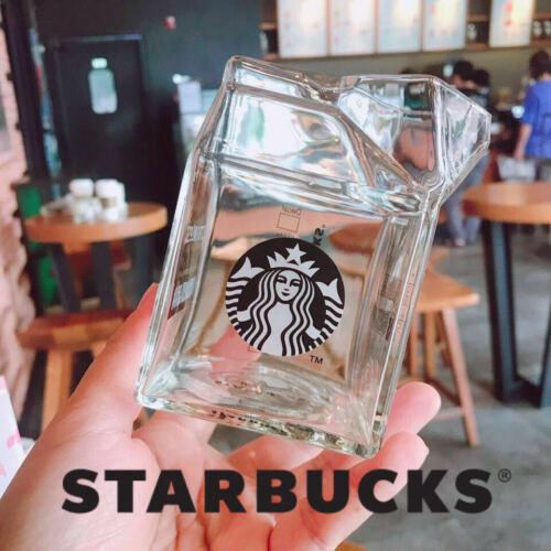 Starbucks Cute Milk Carton Glass Coffee Mug Korea Milk Cup Limited Edition 400ml