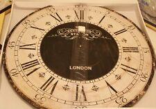 Enorme 60cm de madera reloj negro romana vintage estación Kensington gran Pared London