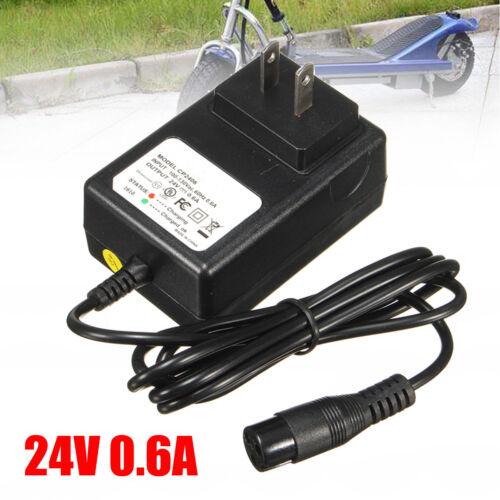 24V 0.6A 3-Prong Battery Charger For Razor Scooter Bike E100 E125 E500S PR200 m