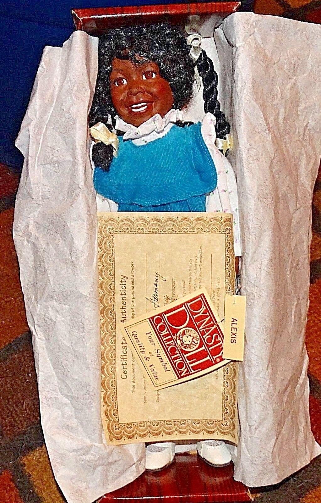 Raro Alexis Daddy Long Legs afroamericano muñeca de dinastía Coll. Karen Alemania