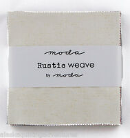 Moda Fabric Charm Pack Rustic Weave 42 - 5 Squares