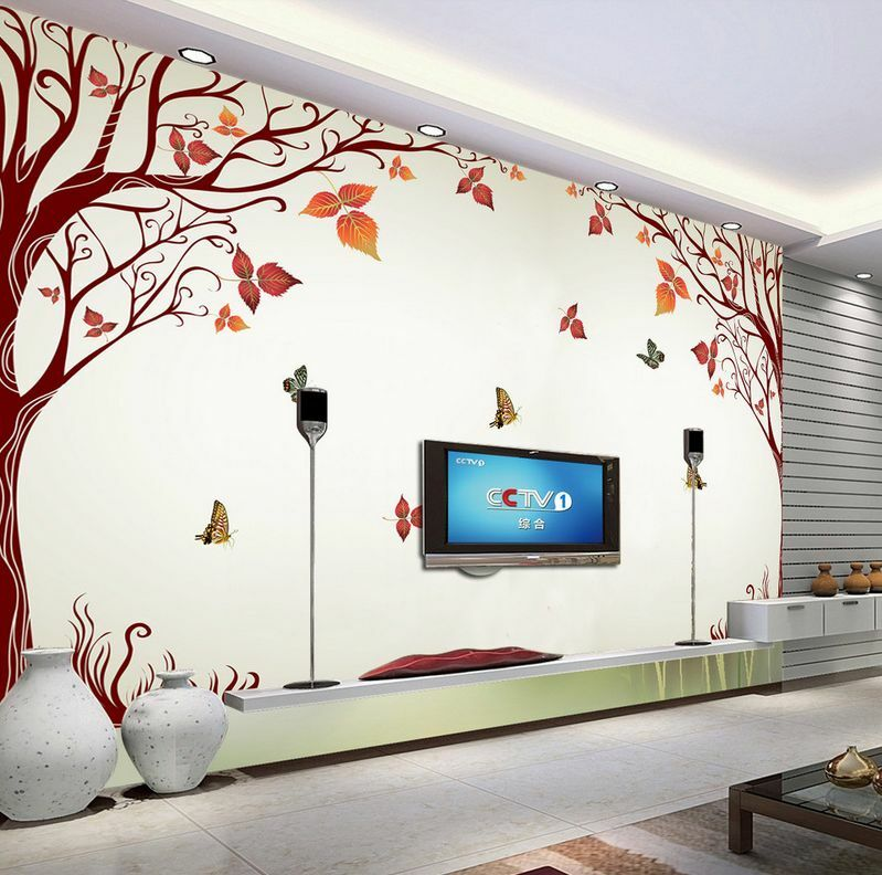3D Flying Butterflies And Tree 32 Wall Paper Wall Print Decal Wall AJ Wall Paper