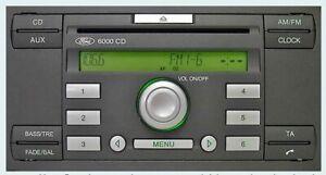 Refurbed-Ford-Focus-Fiesta-Transit-Connect-6000-CD-Radio-AUX-Code-Warranty